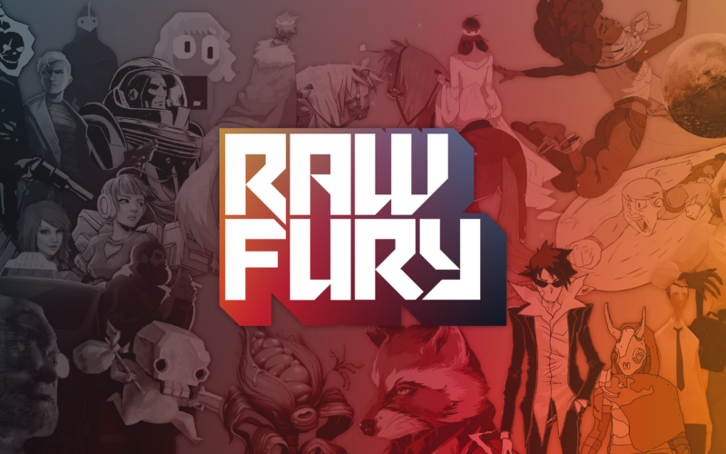 A collage featuring art from various Raw Fury games